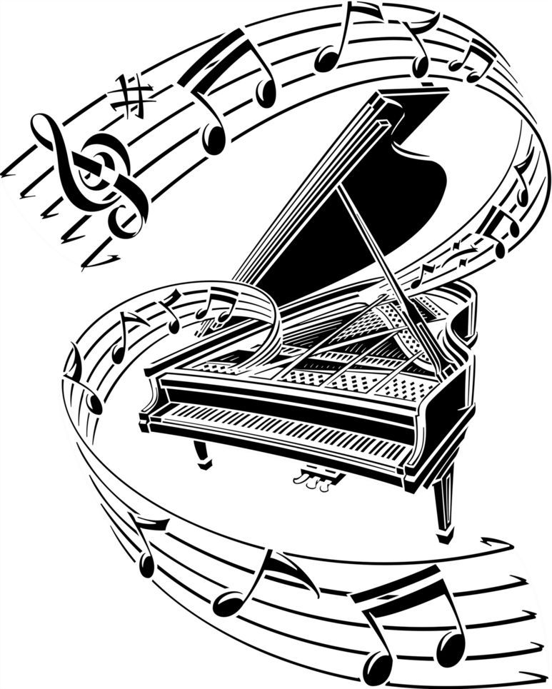 45++ Piano keys clipart black and white ideas in 2021
