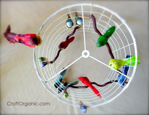 DIY Bird Cage Chandelier / Lamp Shade