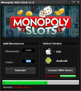 Monopoly Slots Hack Tool Free Download No Survey Android & iOS