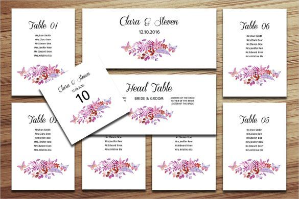 Wedding Seating Chart Template   16+ Examples In PDF, Word, PSD, Excel  Free Wedding Seating Chart Templates