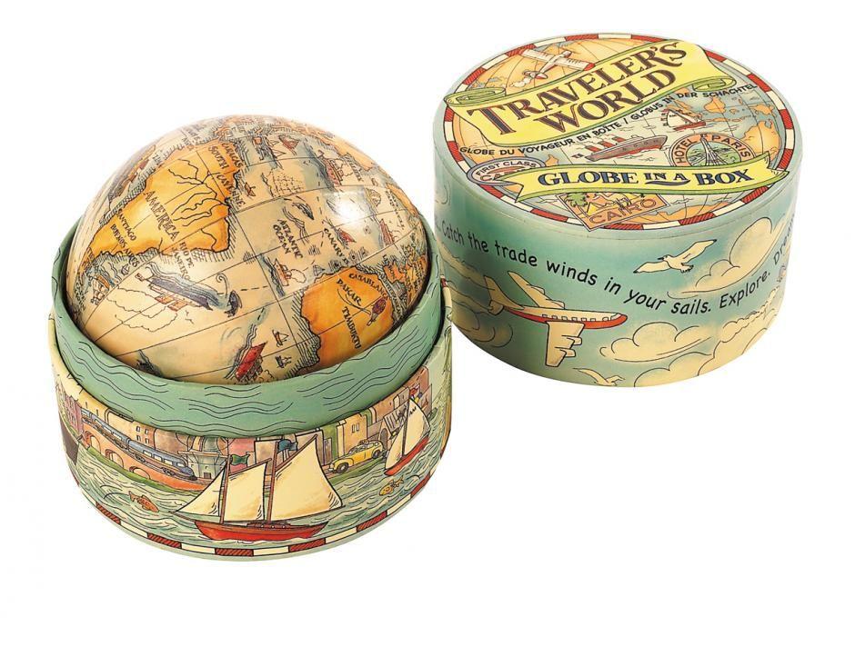 Globe du voyageur en boîte - Jeux - Authentic Models - Léa mundis