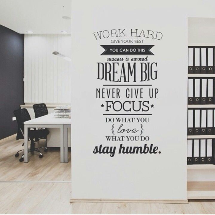 Wall decals quotes work hard vinyl wall sticker letras decorativas office home decoration wall art wall stickers size