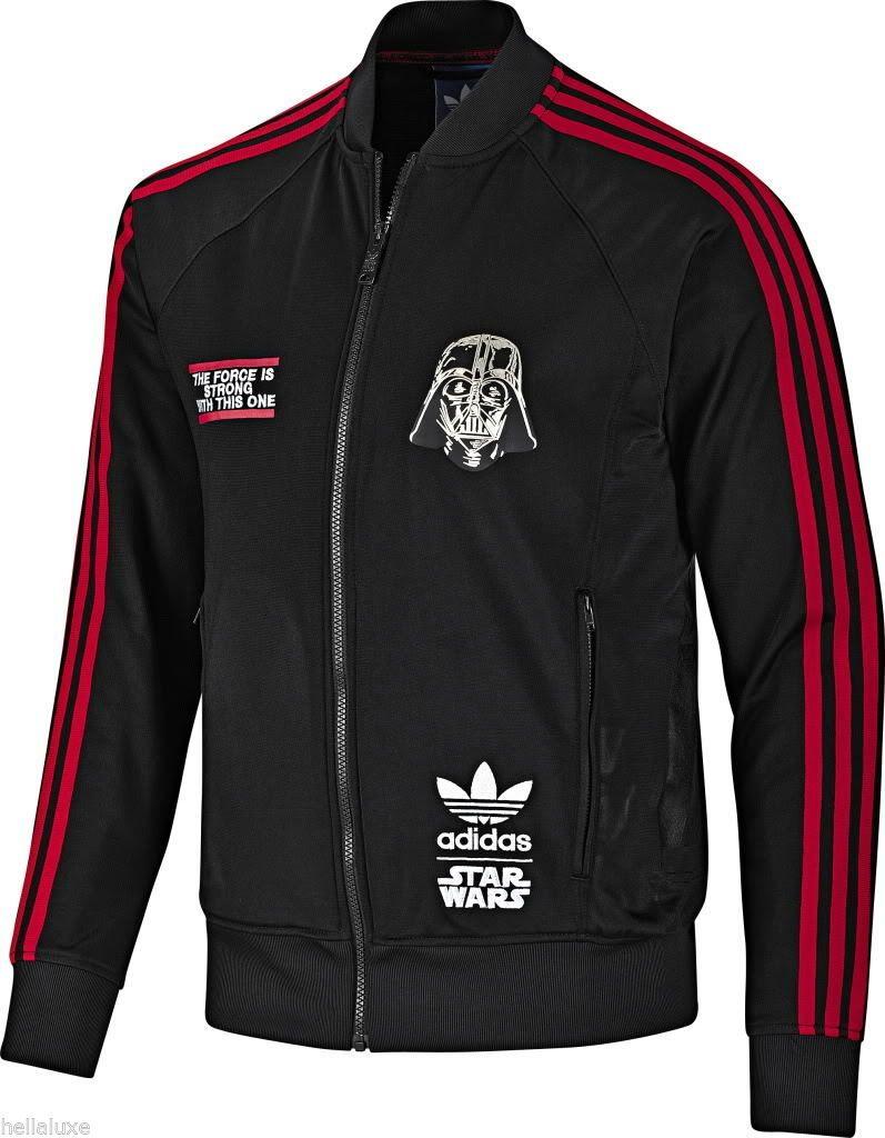Nwt Adidas Star Wars Darth Vader Track Shirt Top Sweat Jacket Superstar Men Sz S Adidas Star Wars Soccer Outfits Top Shirt [ 1024 x 797 Pixel ]