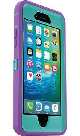 249f1075a8eaa4 OtterBox Defender Series Case for iPhone 6 6s (Light Teal Shell + Opal  Purple Slipcover) - The Defender Series is designed with 3 rugged layers to  keep your ...
