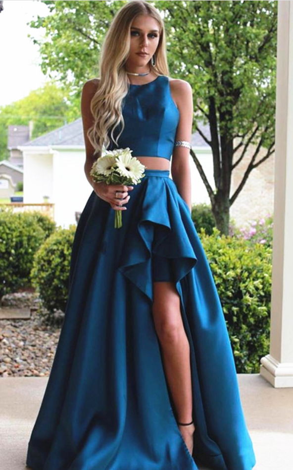 Prom Dresses,two piece prom dress,teal green prom #prom #promdress ...