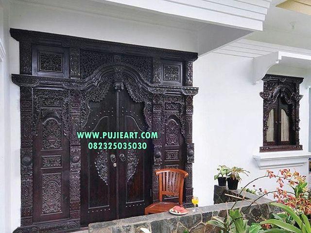 Pintu Gebyok Pintu Rumah Mewah Klasik Jual Gebyok Desain Rumah