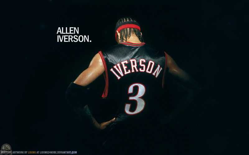 "Allen Iverson,who is one of the greatest basketball players in the NBA,is called ""the Answer"" by fans all through the world. Description from lisong24kobe.deviantart.com. I searched for this on bing.com/images"