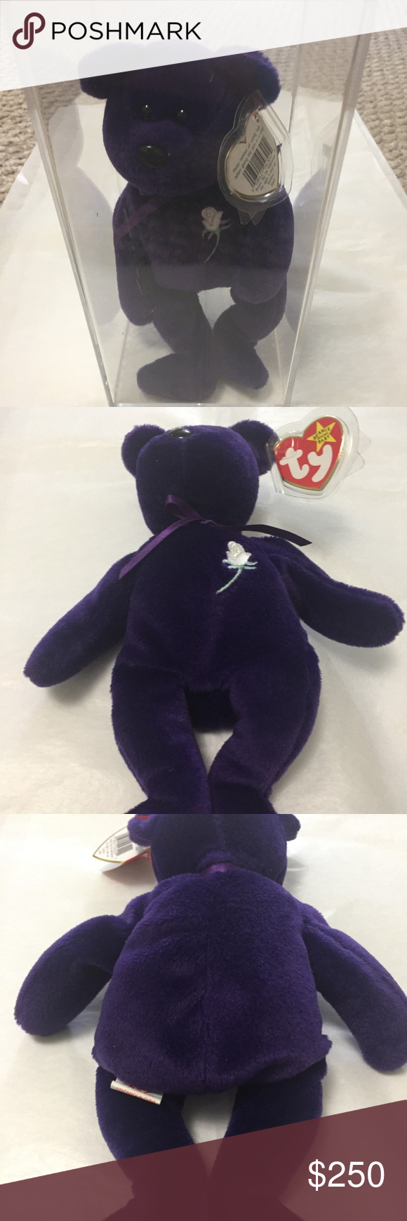 RARE 1ST EDITION PRINCESS DIANA BEANIE BABY. MINT! in 2020