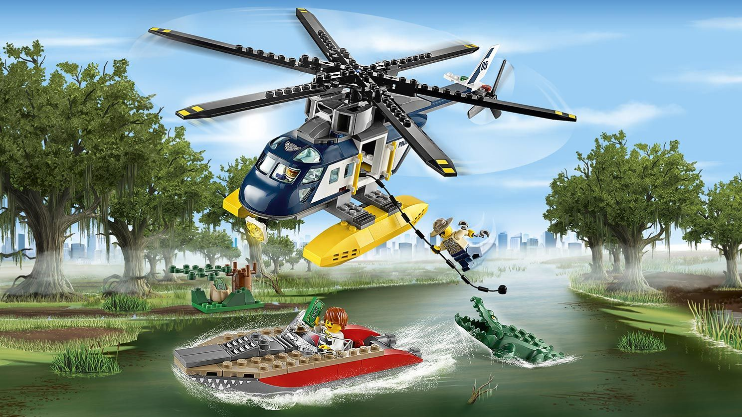 Lego City, Chase with Helicopter, March 2016