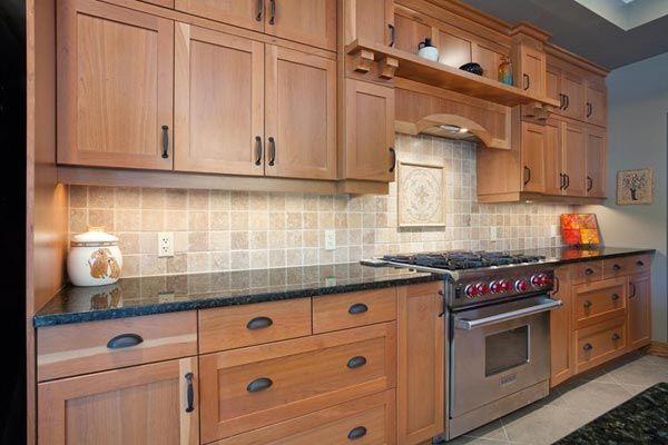 Natural Cherry Kitchen Cabinets Wood Kitchen Cherry Kitchen