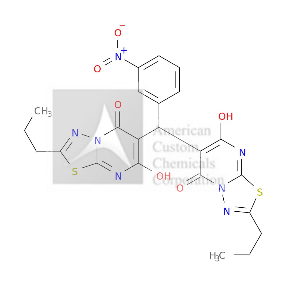 (4R)-7-HYDROXY-6-[(7-HYDROXY-5-OXO-2-PROPYL-[1,3,4]THIADIAZOLO[3,2-A]PYRIMIDIN-6-YL)-(3-NITROPHENYL)METHYL]-2-PROPYL-[1,3,4]THIADIAZOLO[3,2-A]PYRIMIDIN-5-ONE is now  available at ACC Corporation
