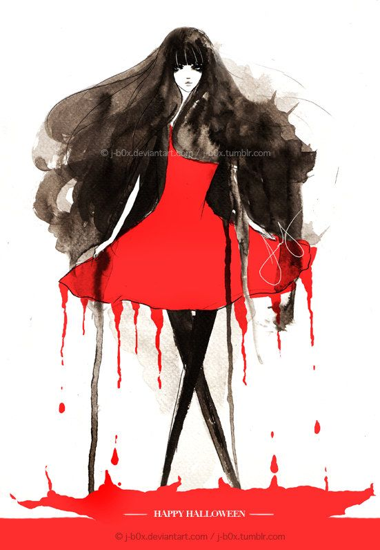 Red Dress Art Print - Gorgeous!