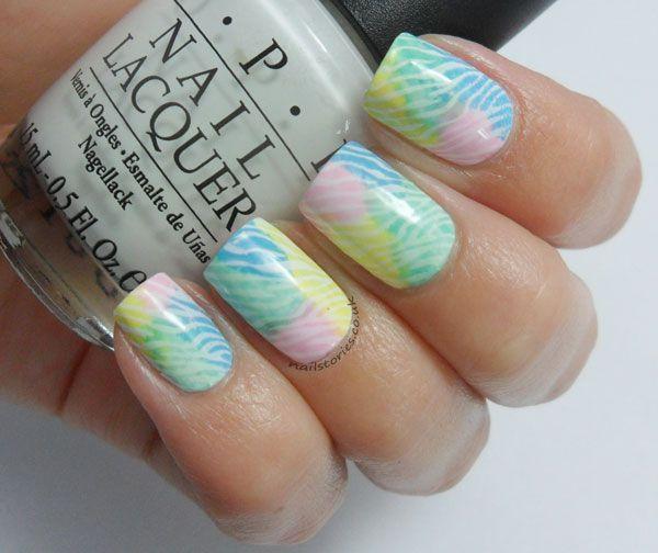 Nail Stories: Pastel Watercolour Zebra