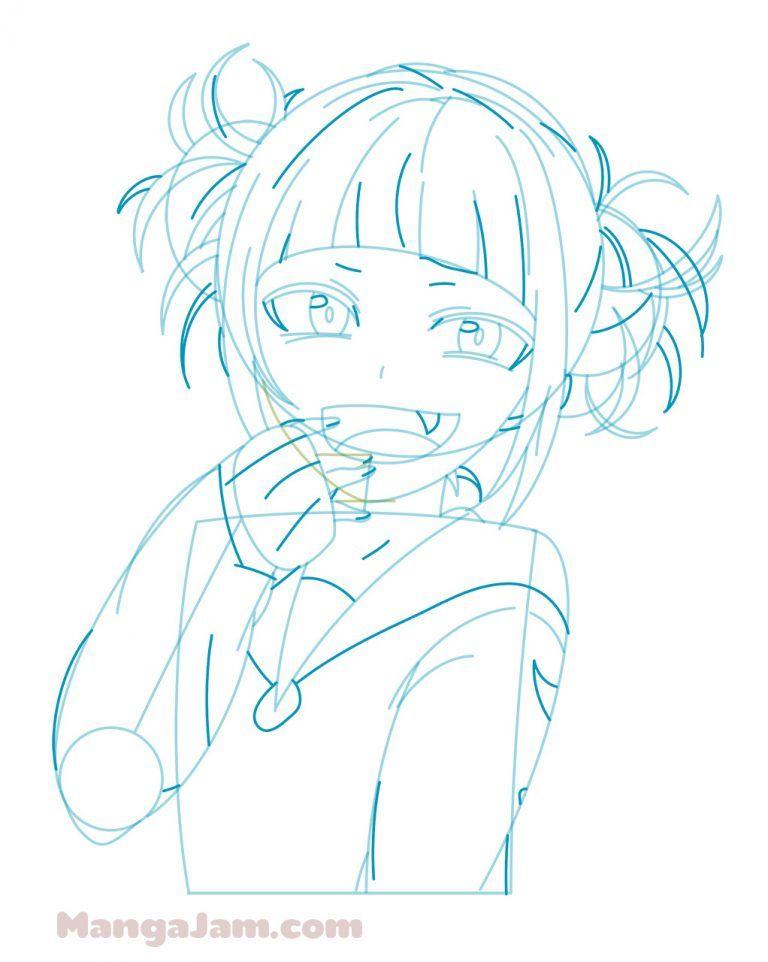 How To Draw Himiko Toga From My Hero Academia Com Imagens