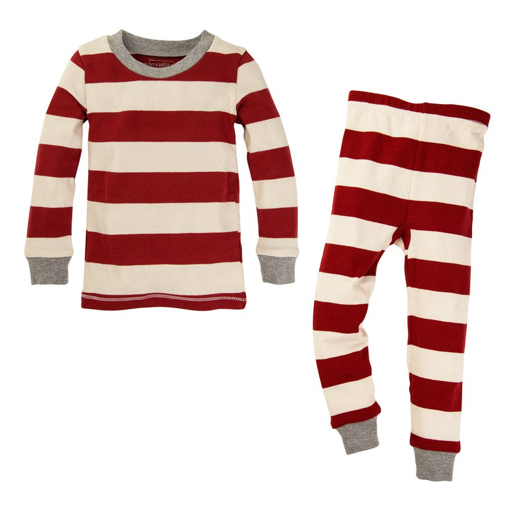 1eaa7b37c17f Baby Burt's Bees Baby Organic Rugby Striped Family Pajama Set, Infant Unisex,  Size: 24 Months, Brt Red
