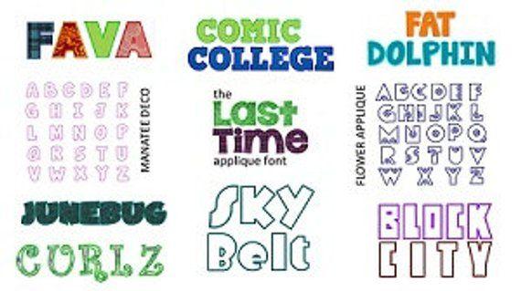 Download 10 Alphabet Letters Applique Font Pack, Instant Download ...
