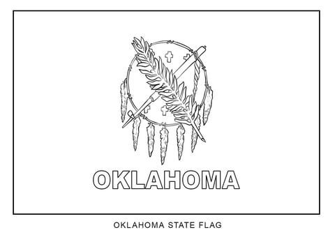 Flag Of Oklahoma Coloring Page From Oklahoma Category Select From