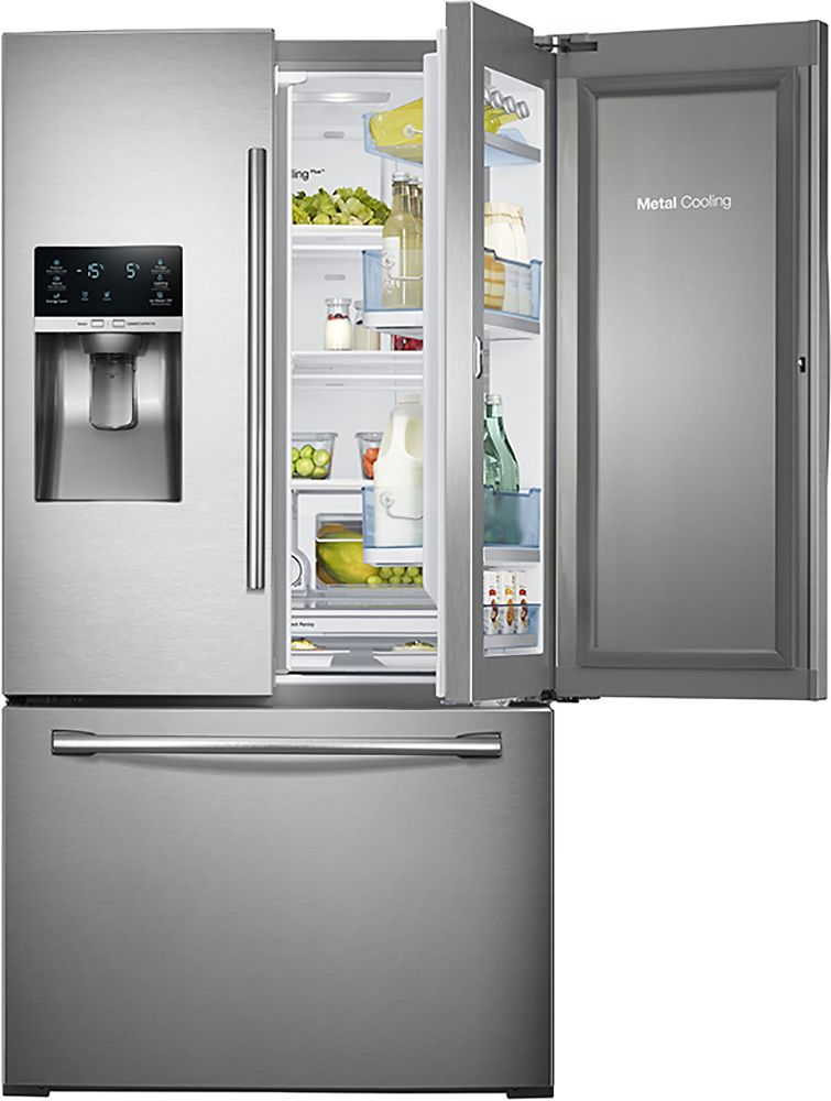 Ft French Door Refrigerator With Thru The Ice And Water Stainless Steel Silver