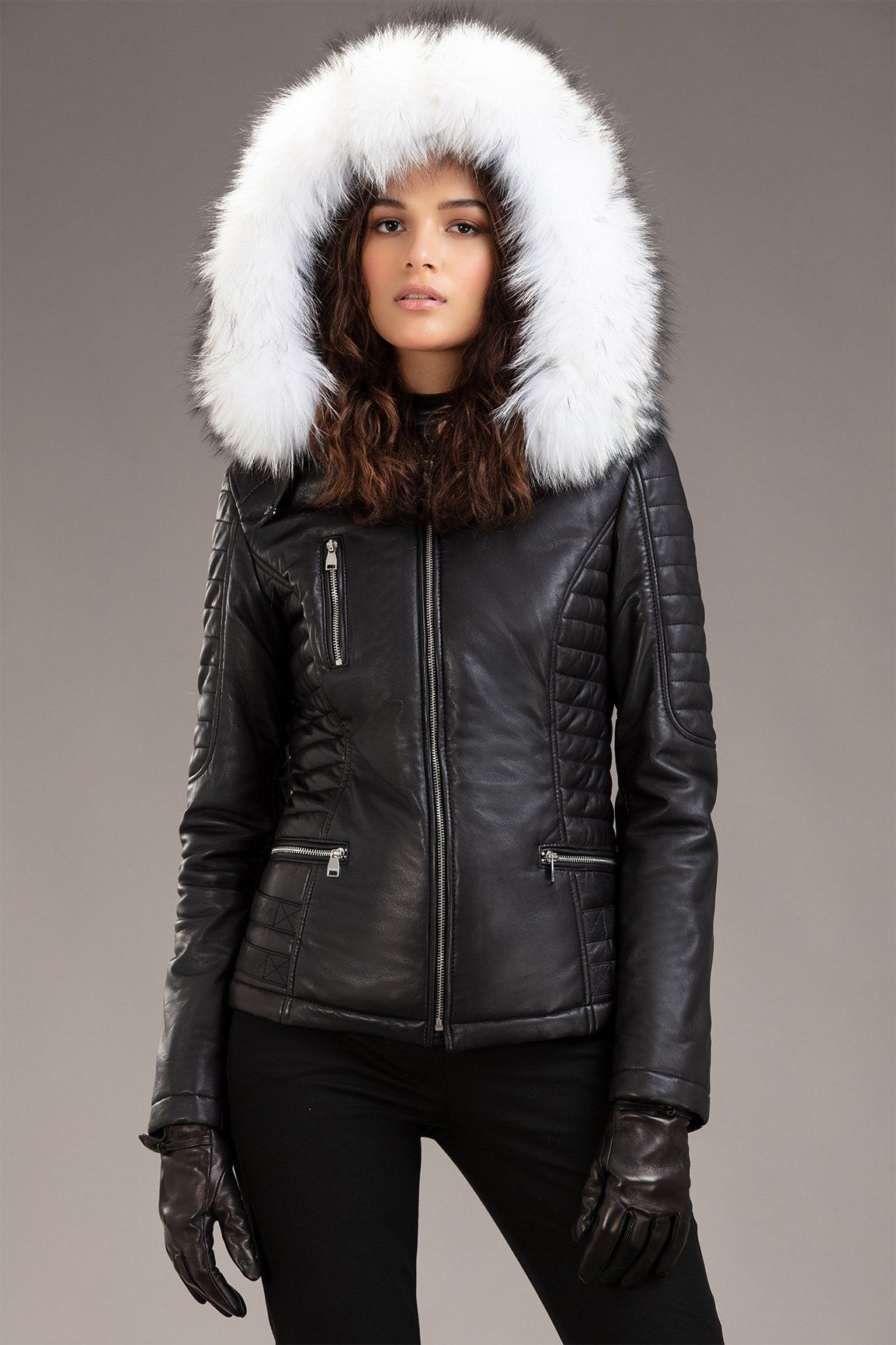Lisa Womens leather jacket outfit, Leather jacket with