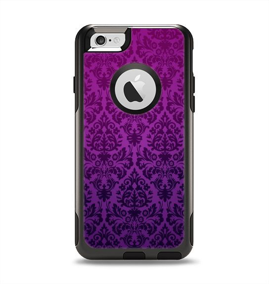 The Purple Delicate Foliage Pattern Apple iPhone 6 Otterbox Commuter Case Skin Set