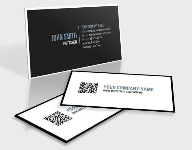 Elegant Black And White Qr Code Business Card Qr Code Business Card Google Business Card Business Cards