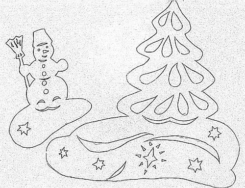 Новогодние трафареты | Рождественские окна, Украшение окон ...