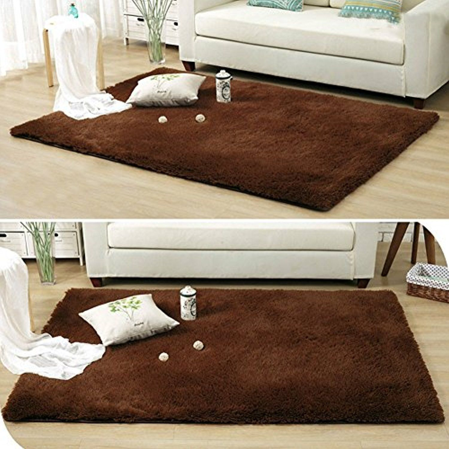 Dodoing Parlor Living Room Shaggy Area Rugs Carpet Anti Slip Resistant Floor Mat Bedroom Carpet Tea Table Carpets Bedroom M Cozy Rugs Bedroom Carpet Home Decor #soft #area #rug #for #living #room