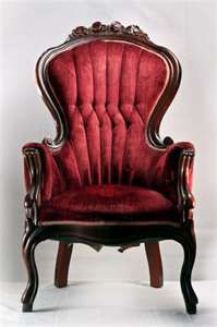 Red Couch Chair Vintage