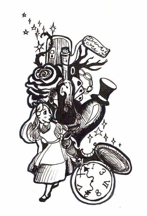Wonderland Wonderland Tattoo Dark Alice In Wonderland Alice