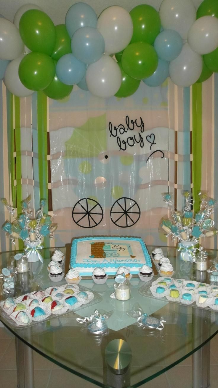 Baby shower decorations at dollar tree 1 baby shower for Baby shower at home decorations