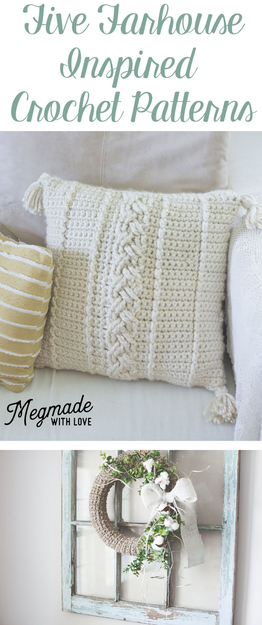 Farmhouse-Inspired Freebie Roundup   Crochet & Knitting. Mantas ...