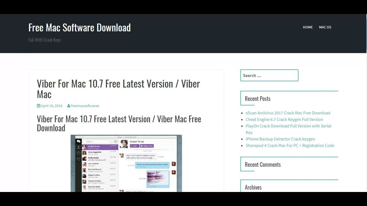 Viber for MAC 10 7 Latest version free download