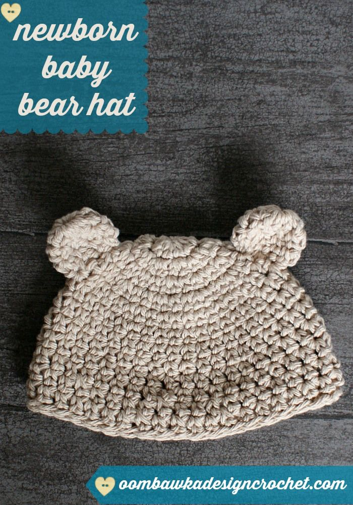 Newborn Baby Bear Hat Pattern | Relax ganchillo | Pinterest | Hat ...