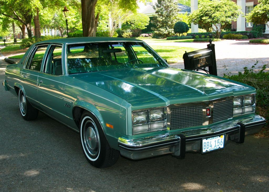 1977 Oldsmobile 98 Regency In Original Medium Green Metallic