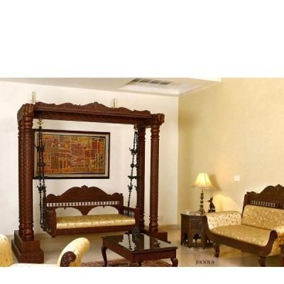 Indian Traditional Swing Jhoola Beautifully Carved From Teak Wood