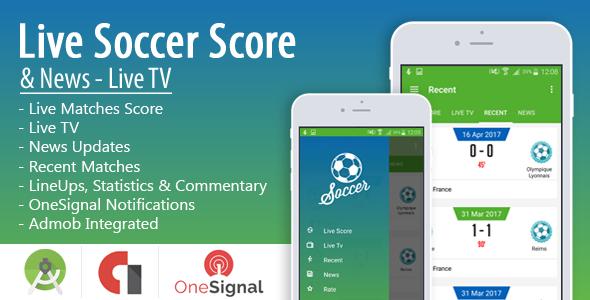 Live Soccer Score & News - Live TV - https://codeholder.net/item ...