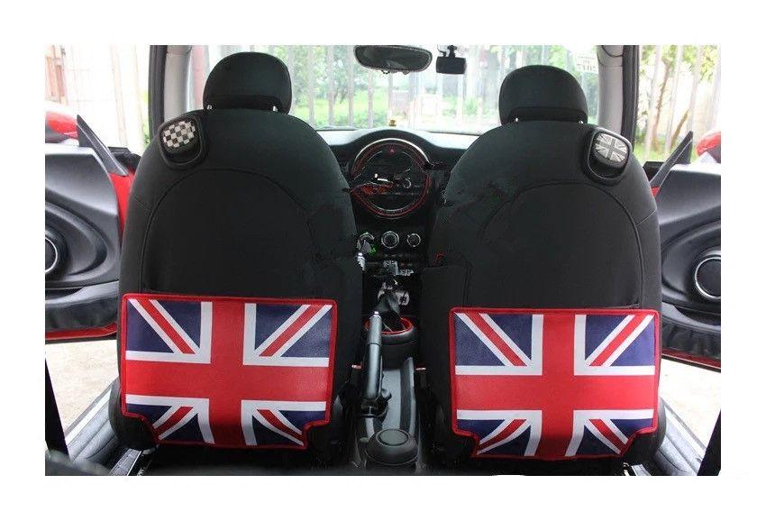 British Jack Flag Car Seat Back Anti Kick Mat For Mini Cooper