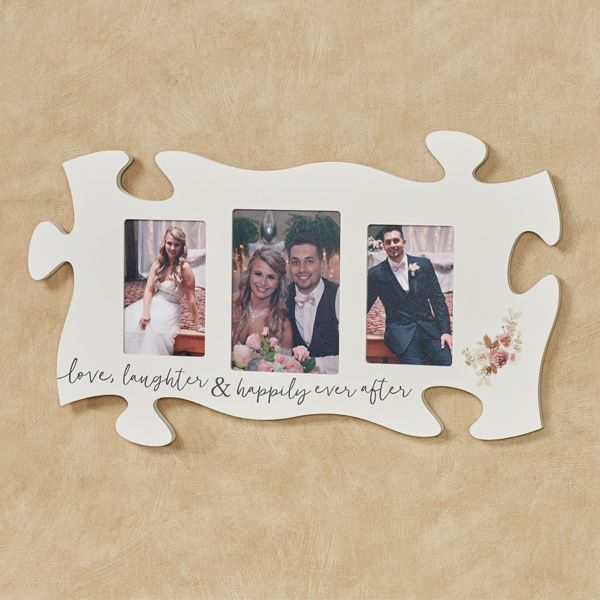 Love Laughter Photo Frame Puzzle Piece Wall Art Home Decor 2