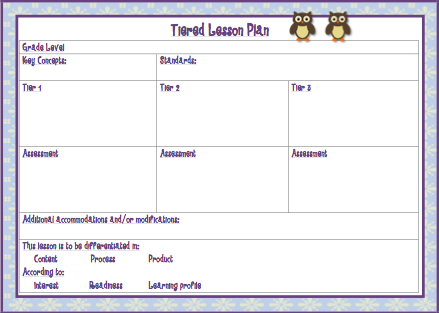 Owl Theme Master Teacher Planning Pack  Lesson Plan Templates