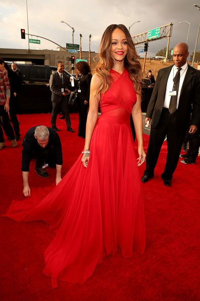 Rihanna Wore Alaia at the Grammy Awards 2013