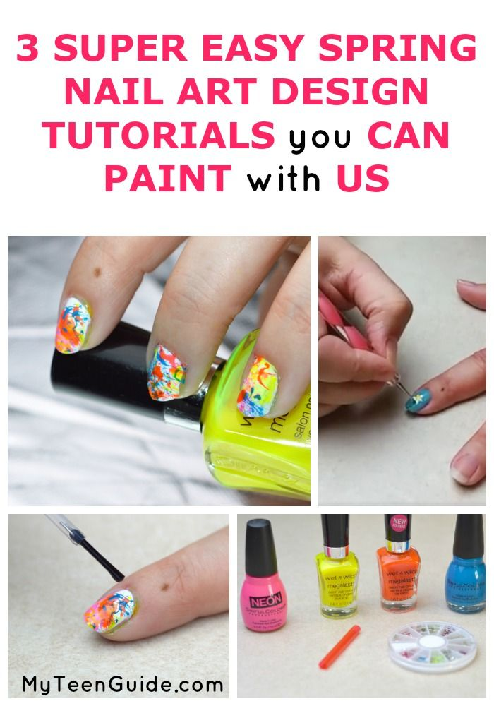 3 Super Easy Nail Art Designs Tutorials You Can Paint With Us | Easy ...
