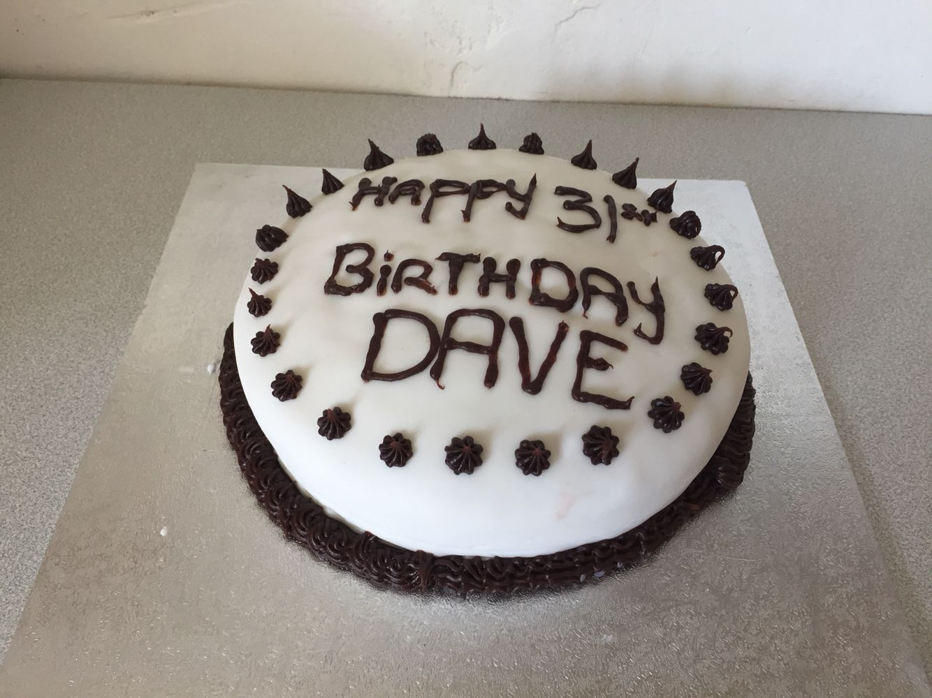 Birthday Cakes Ideas For My Husband ~ Birthday cake i made for my husband betty crocker marble cake