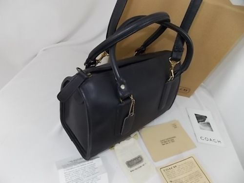 Coach Doctors Satchel New York City Brass Black Never Used