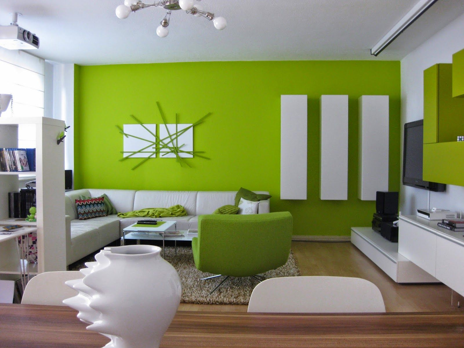 Sala combinacion verde con gris buscar con google para for Colores pintura pared 2016