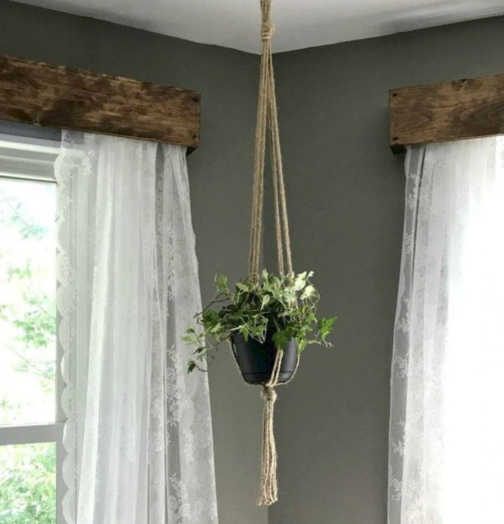 30 Cool Curtain Ideas For Living Room Rustic Window Treatments