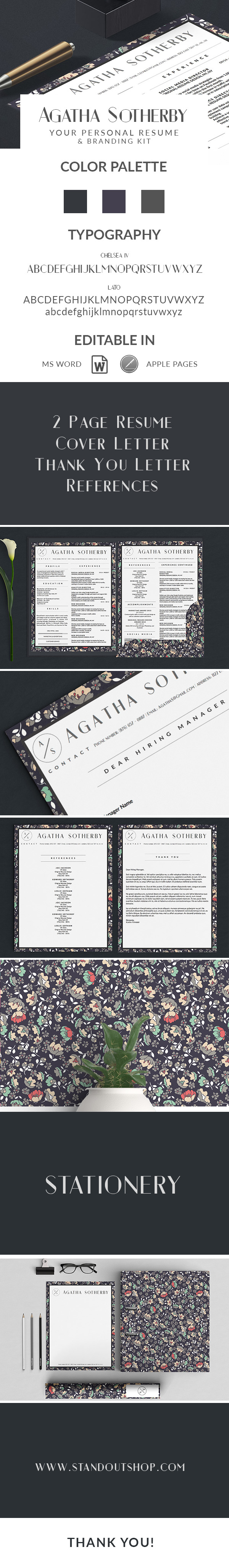 AGATHA SOTHERBY BRANDING Agatha Sotherby Resume Template