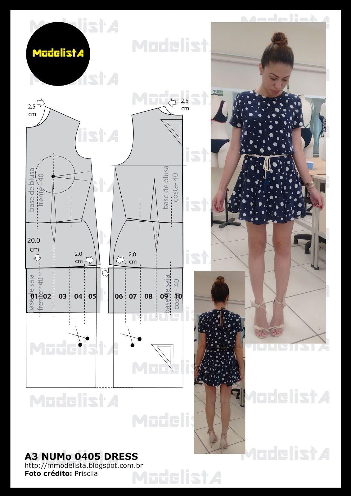 A3405-01.jpg (1131×1600) | vestidos | Pinterest | Costura, Molde y ...