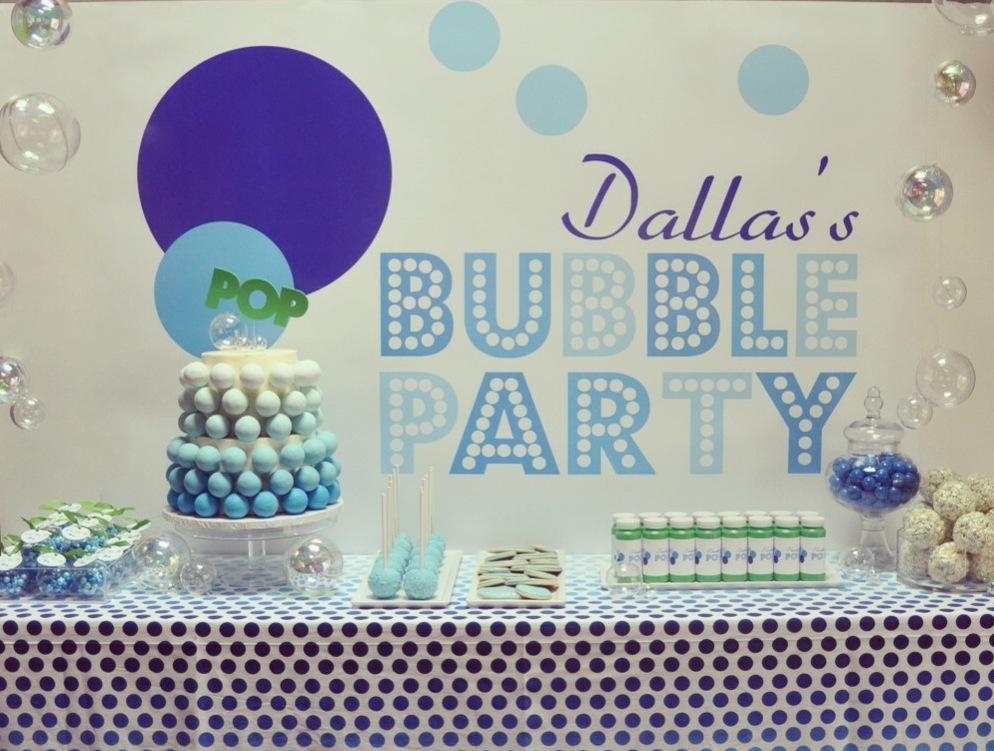 Bubbles Theme Birthday Party Birthday Party Themes Bubble Birthday Bubble Birthday Parties