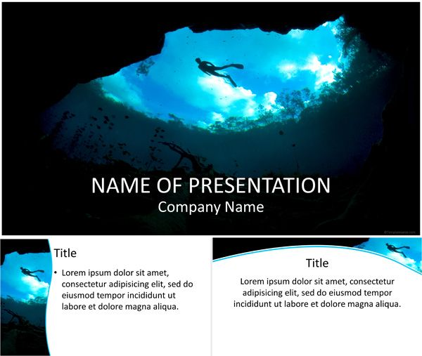 Snorkeling powerpoint template menyelam pinterest stunning powerpoint template with a snorkeler enjoying the diving in a lake this theme will fit presentations on diving underwater sports etc toneelgroepblik Choice Image