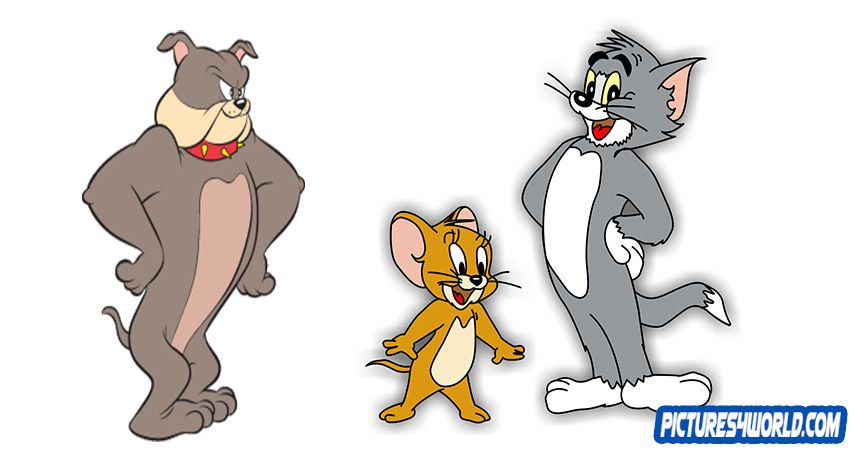 how to draw the dog from tom and jerry